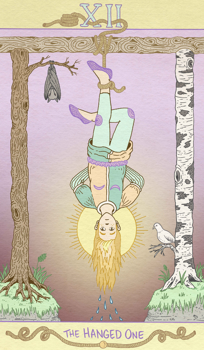 The Hanged Man Predictive Tarot Card Meanings: The Hanged One In The Luna Sol Tarot