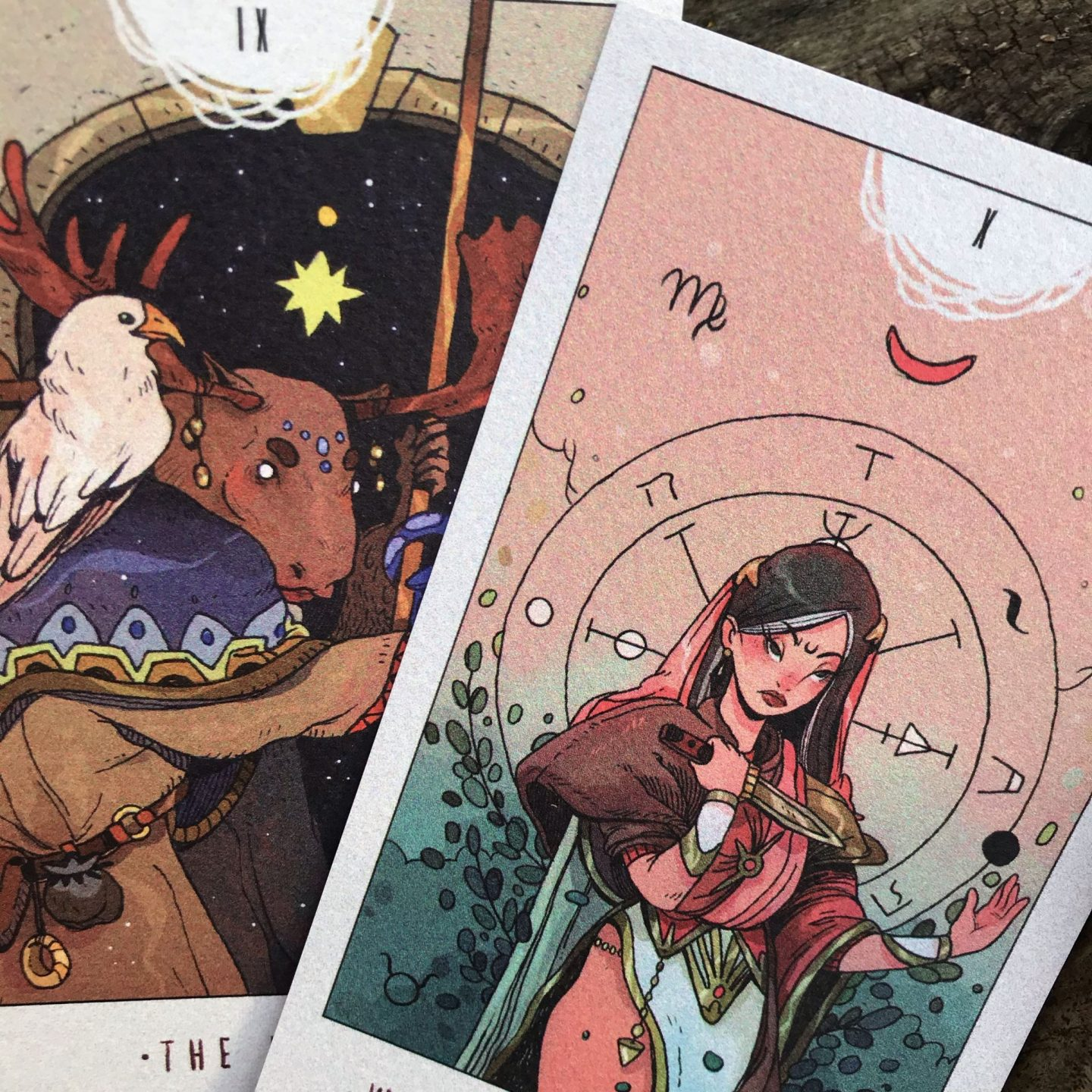 White Numen Tarot Postcard Set by Alba Ballesta Gonzalez
