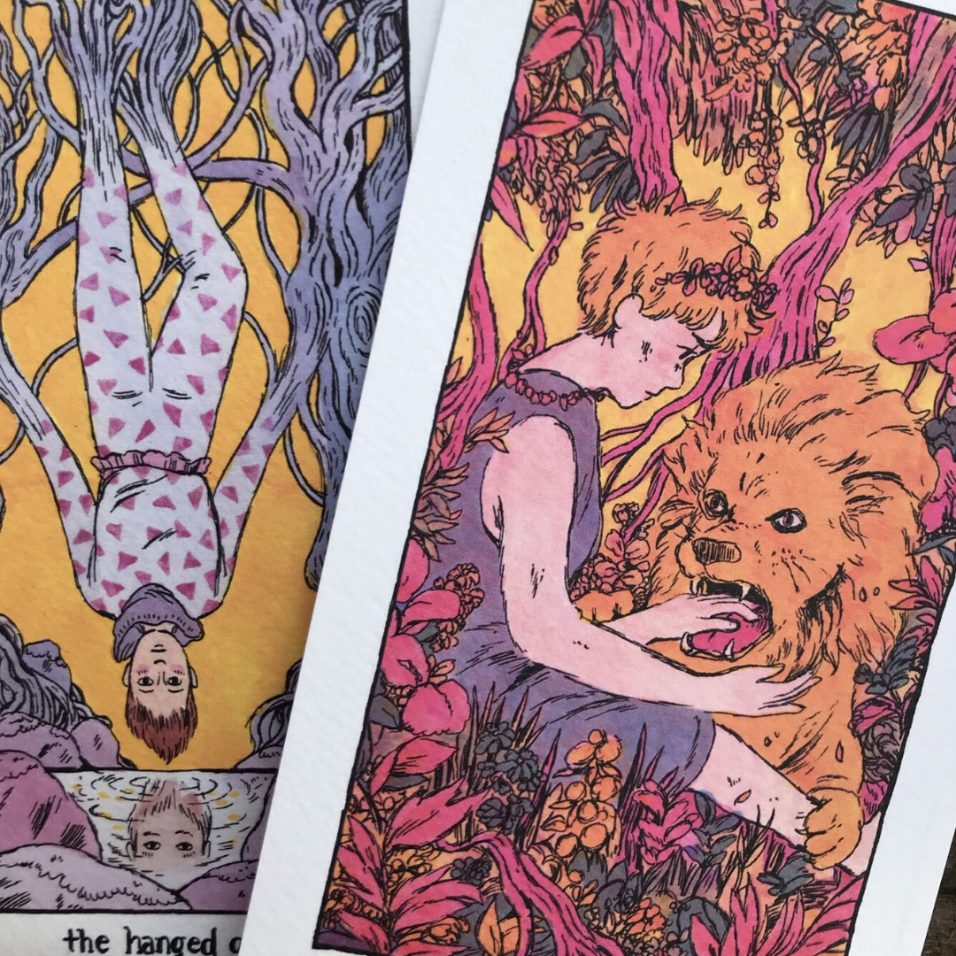 Cosmic Slumber Tarot Postcard Set by Tillie Walden