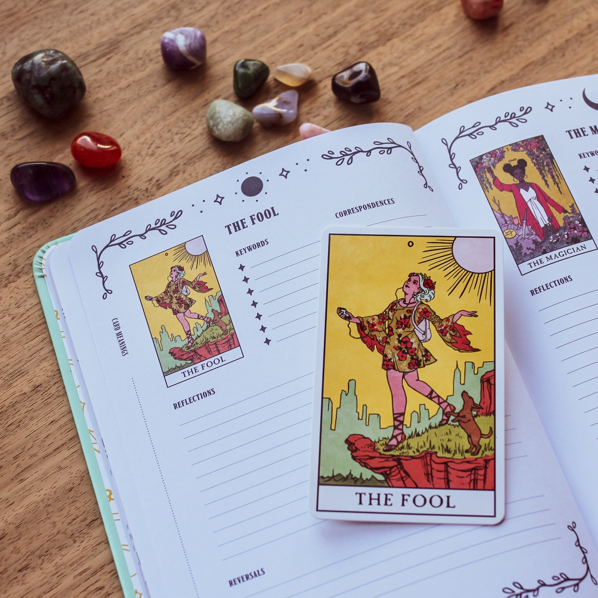 The Fool from Modern Witch Tarot, with the Modern Witch Tarot Journal