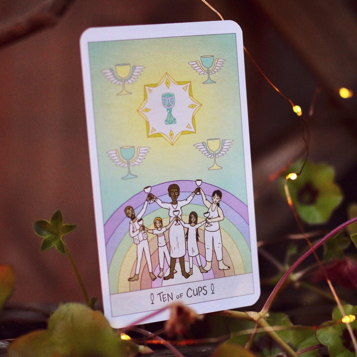 The Ten of Cups from the Luna Sol Tarot