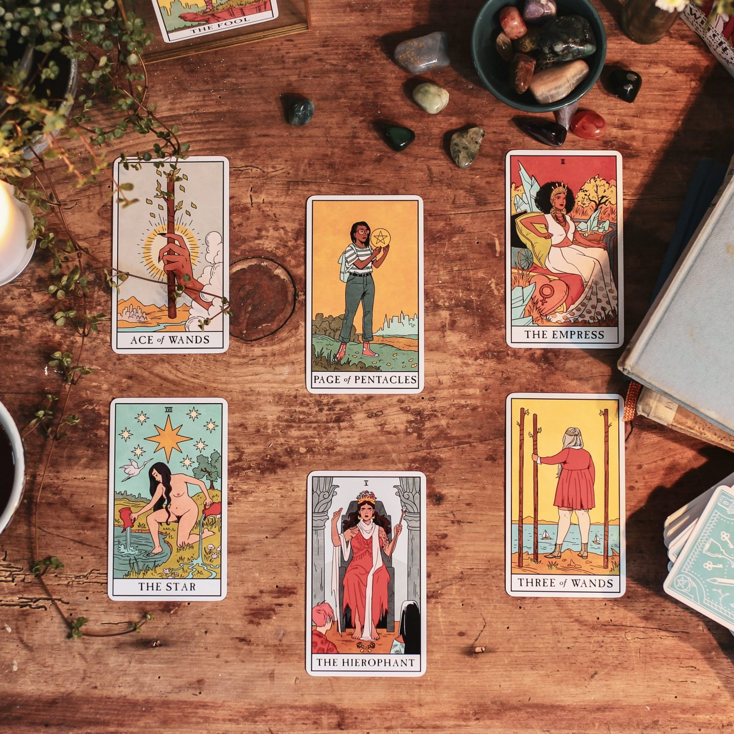 Image: Introduction to Interview Tarot Spread instruction from Modern Witch Tarot Journal.
