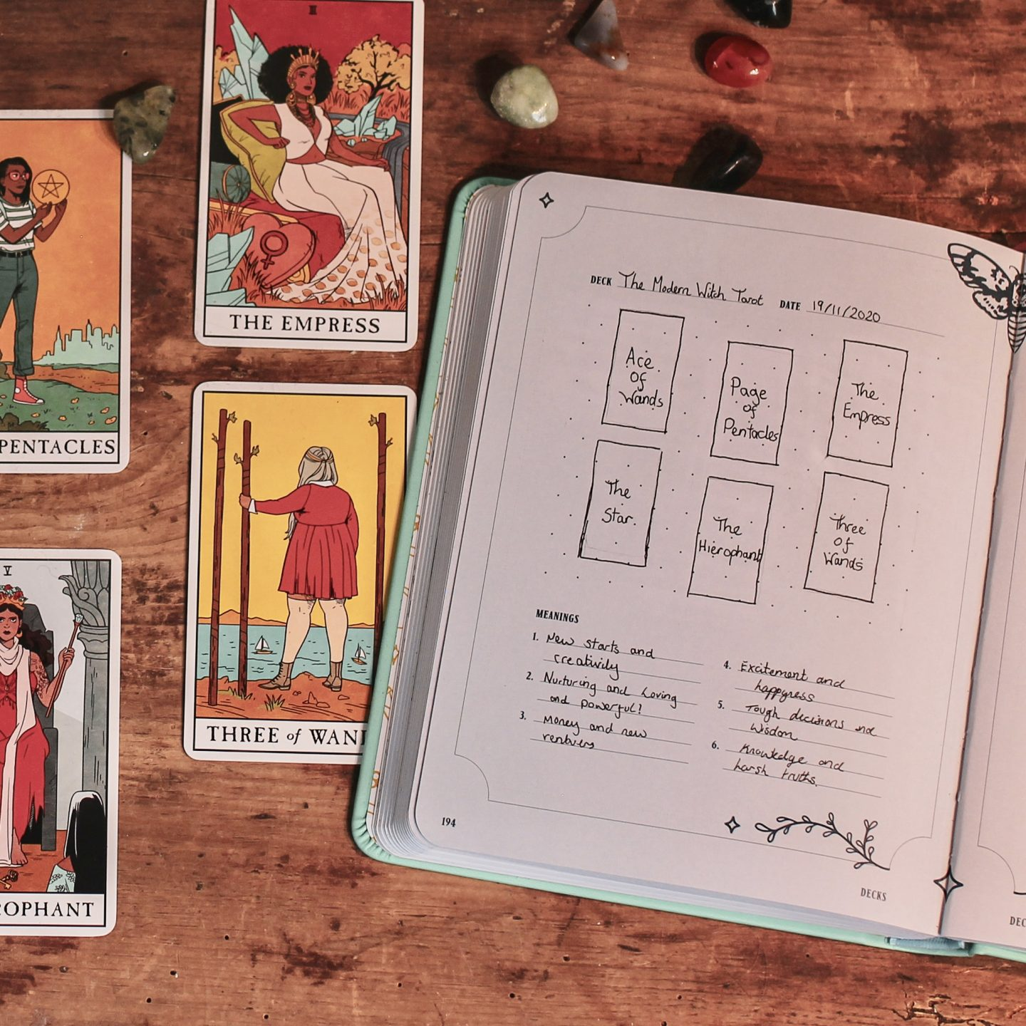 Image: Using Modern Witch Tarot Journal - Available in standard and Special Limited Edition