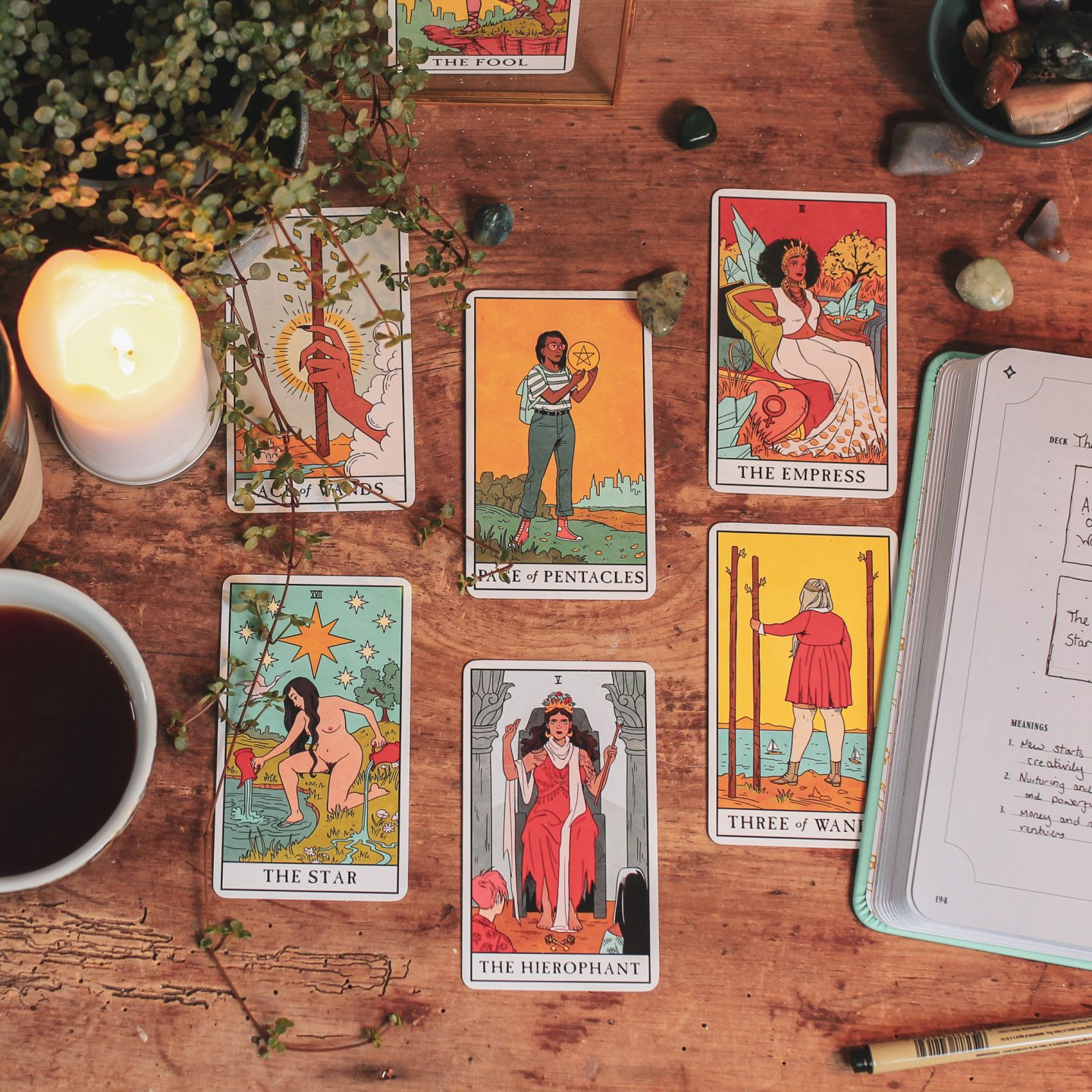 Image: Lisa Strele's Modern Witch Tarot Deck and Journal.