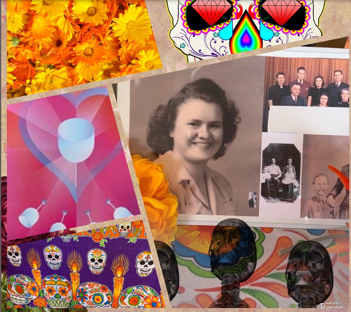 A page from Nancy Hendrickson's tarot journal scrapbook – Remembering Mom