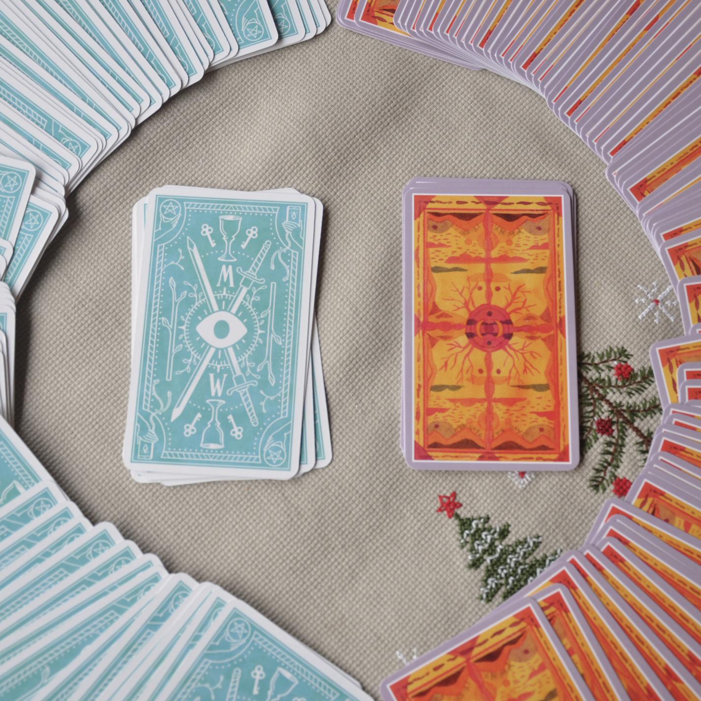 Modern Witch Tarot and The Cosmic Slumber Tarot