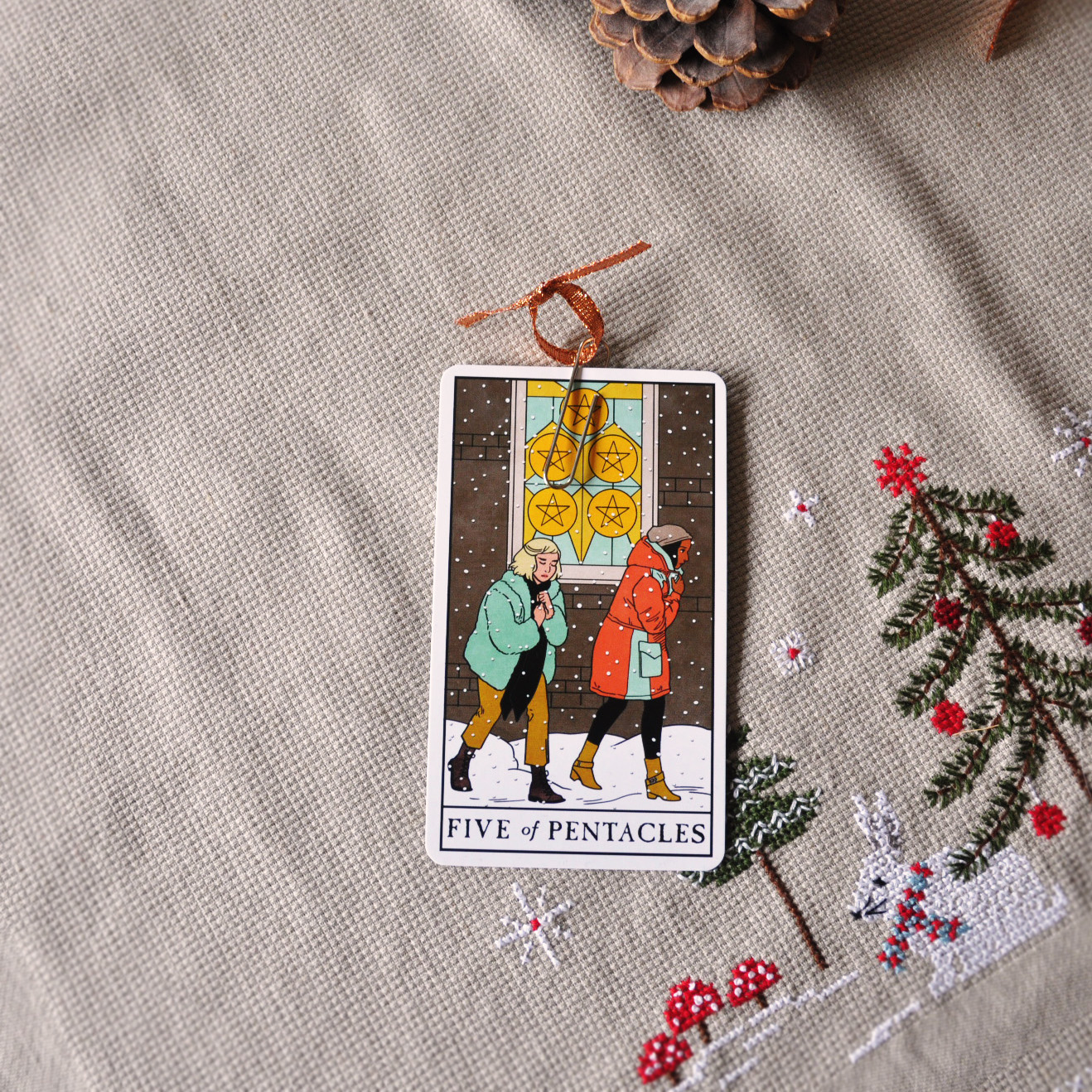 Five of Pentacles from Modern Witch Tarot