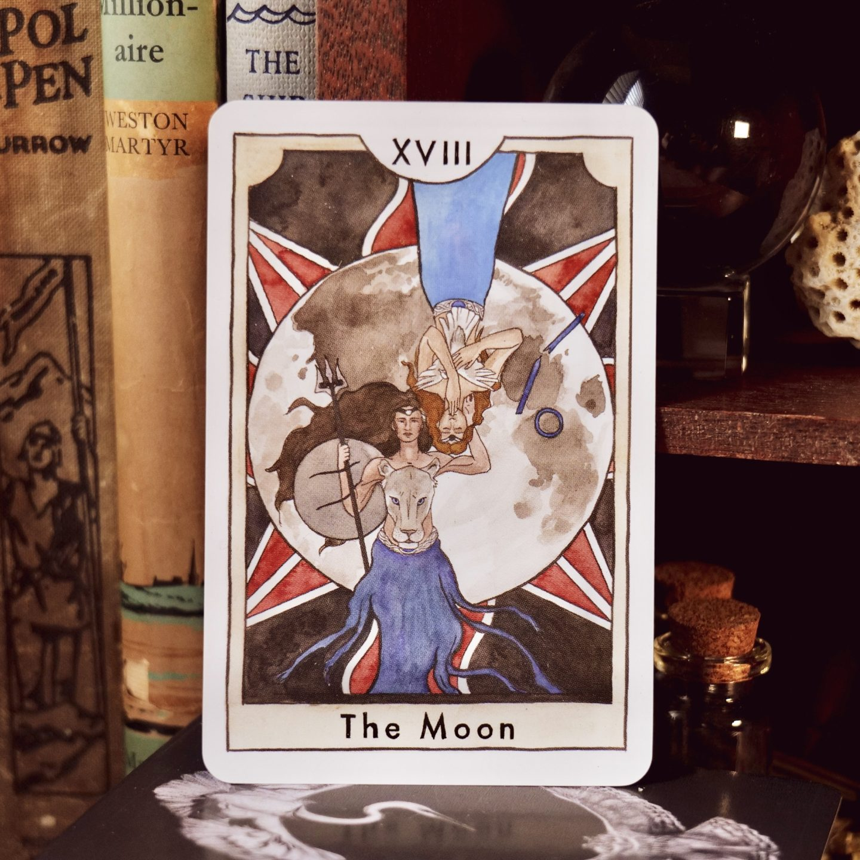 Ereshkigal and Innana on The Moon tarot card